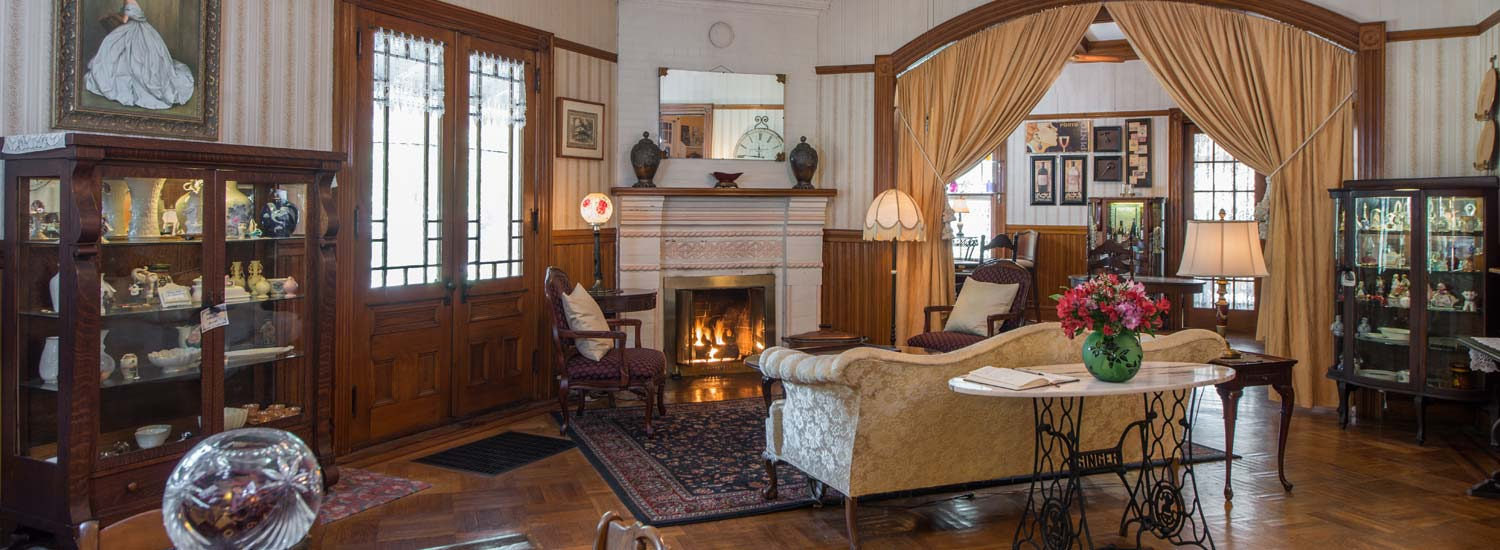 library at at Lamplight Inn Bed & Breakfast in the southern Adirondacks