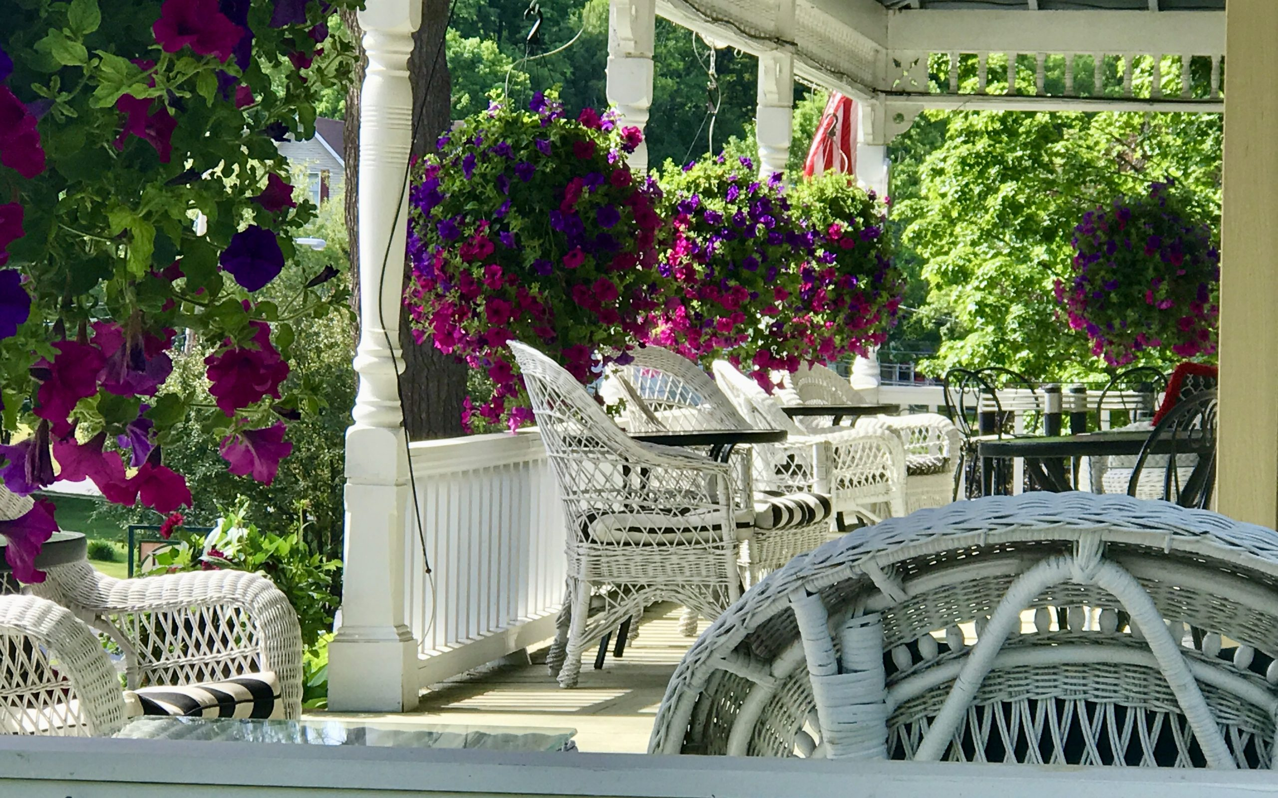Porch with Flowers